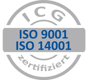 ISO Zertifikat 9001 und 14001